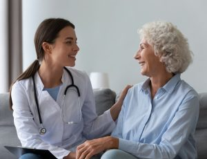 Happy,Young,Female,Nurse,Provide,Care,Medical,Service,Help,Support